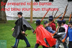 prepared to battle