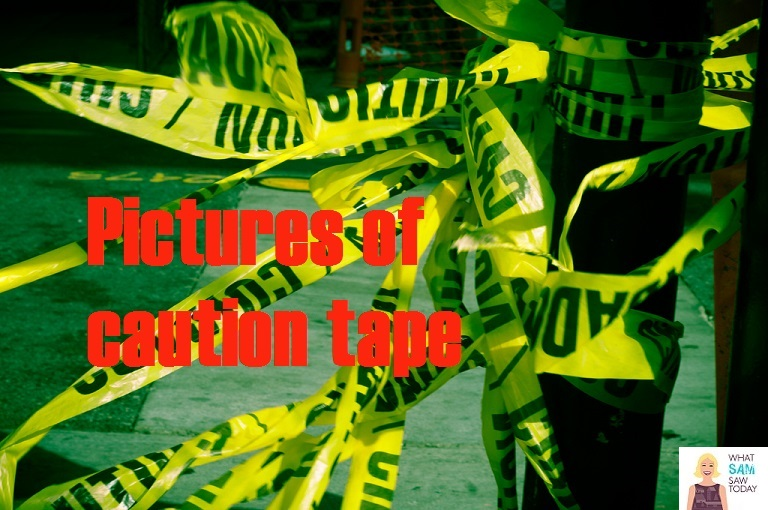 pictures of caution tape