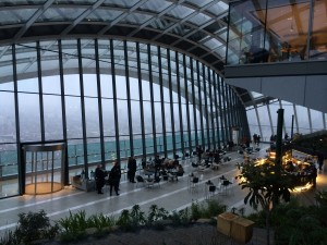 cafe in walkie talkie