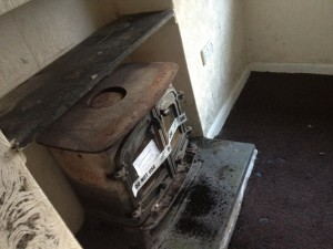 Woodburner in welsh cottage for auction